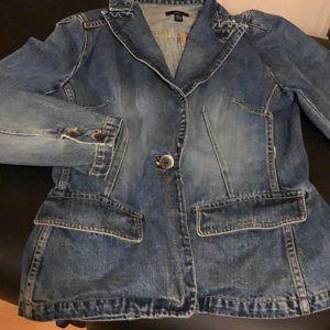 Gap jean jacket blazer sz L EUC sexy/classy